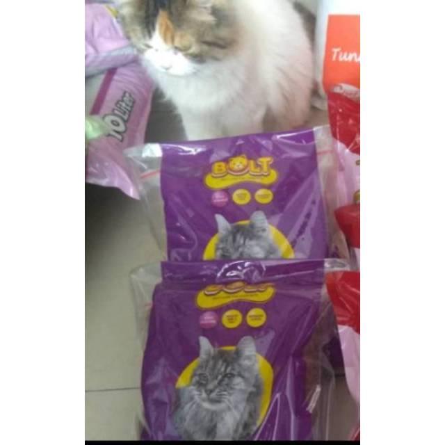Bolt 1kg Repack Makanan Kucing Kibble Donat Dan Ikan Shopee