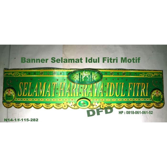 Langsung Order Dekorasi Lebaran Banner Garland Idul Fitri