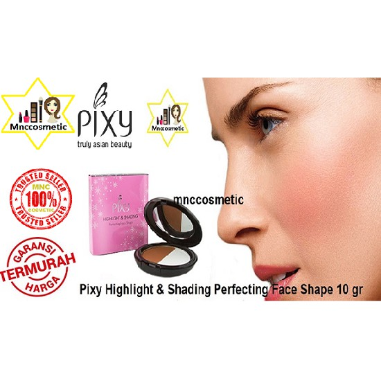 PIXY HIGHLIGHT & SHADING PERFECT FACE SHAPE CONTOUR KIT MAKEOVER | Shopee Indonesia