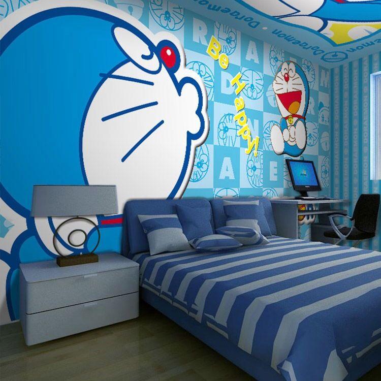 Stiker Dinding Bahan Mudah Dilepas Gambar Doraemon 3d Untuk Dekorasi Kamar Anak Shopee Indonesia