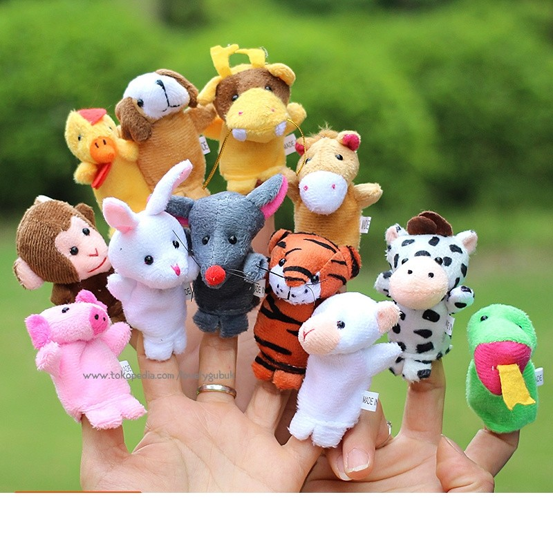 Boneka Jari Anak Edisi Hewan atau Finger Animal Family Set isi 10 pcs  39181b659b