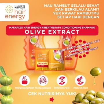 Makarizo Hair Energy Fibertherapy Conditioning Shampoo 170ml   330ml-Olive Extract