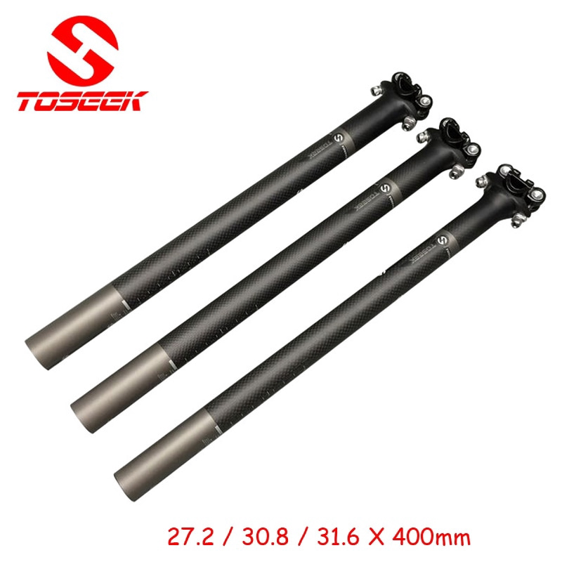 TOSEEK Carbon Fiber Seatpost Cycling Bike Seat Post Saddle Tube 27.2//30.8//31.6mm