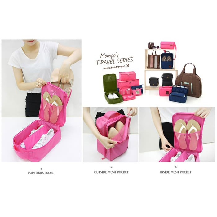 Korean Shoes Pouch - Travel Organizer Bag - Tas Sepatu Selip Koper | Shopee Indonesia