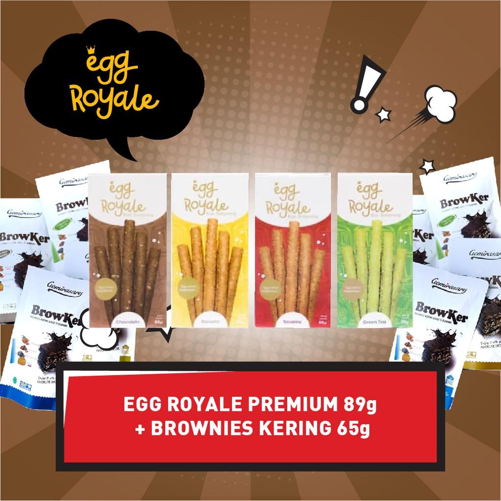Egg Royale 89gr Bonus Brownies Kering 65gr Brownies Snack Cemilan Camilan
