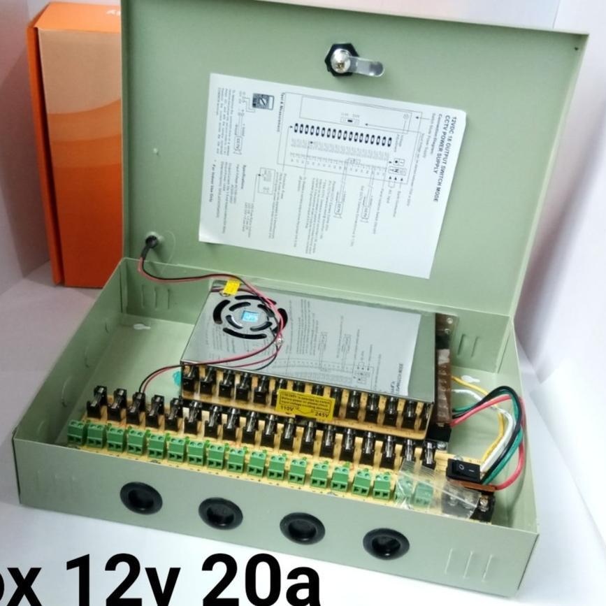 4PCS 18CH Power Supply CCTV Camera 18 Port 12V 10A