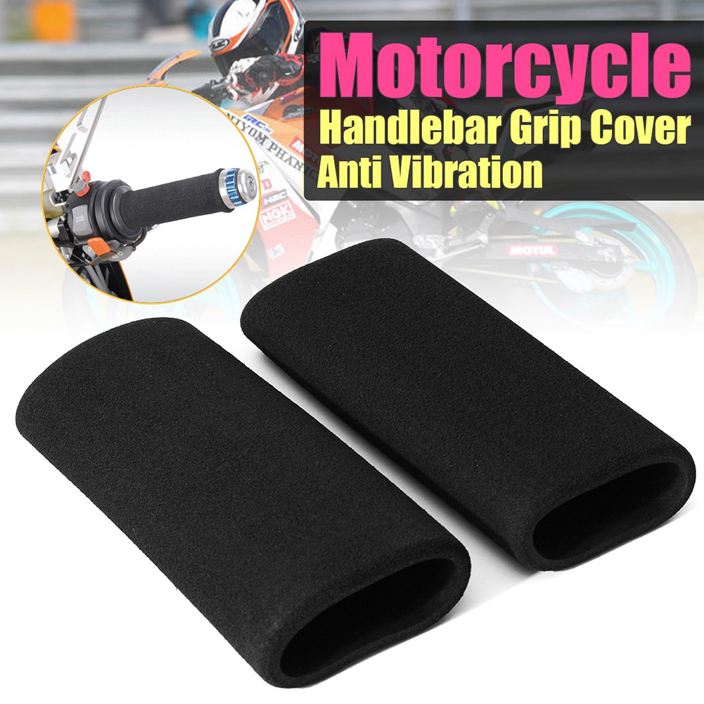 2Pcs Cycling Bike Handlebar Cover Slip-on Foam Grip Cover Anti Vibration