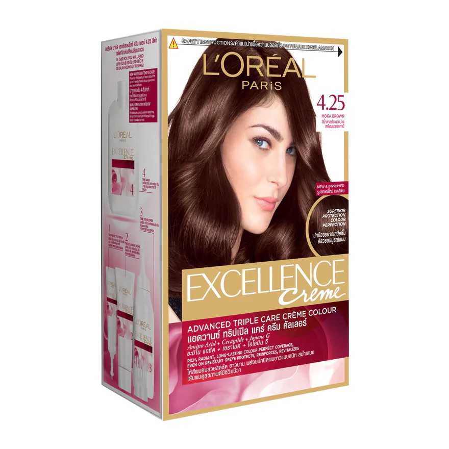 L'oreal Excellence Mahogany Brown Hair Color