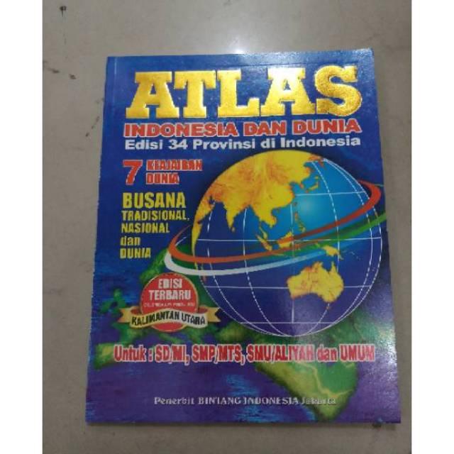 Buku Atlas Peta Besar Shopee Indonesia