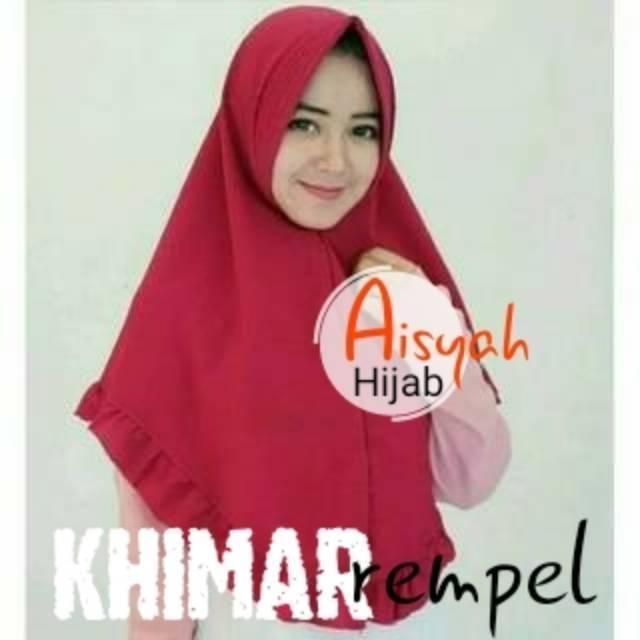 [TERBARU] Khimar Azmya Nonpet, Jilbab Rempel Lipping tanpa Pet, New Rampel Original by Nayla Hijab | Shopee Indonesia