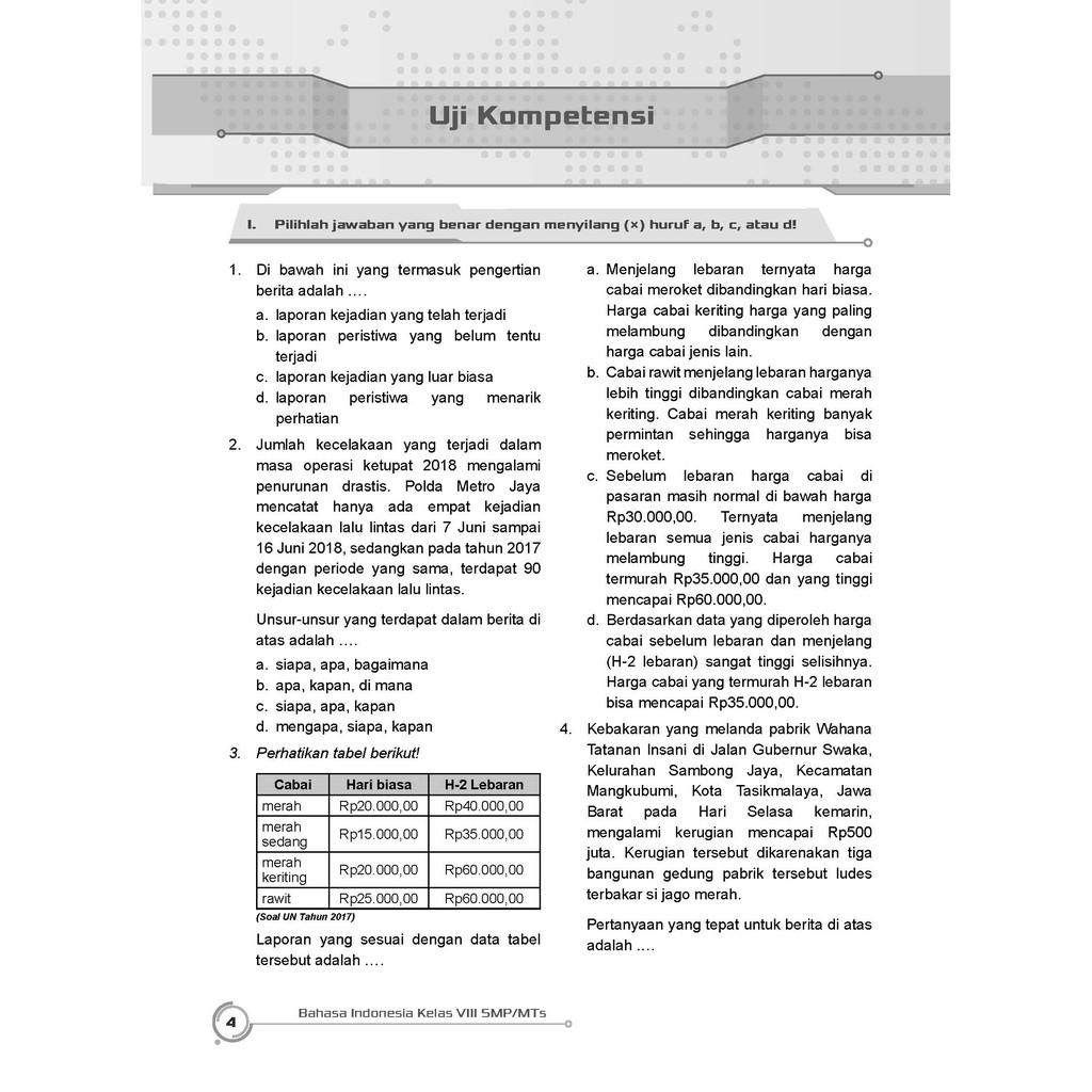 Kunci Jawaban Lks Bahasa Indonesia Kelas 8 Semester 2 Kurikulum 2013 Download File Guru