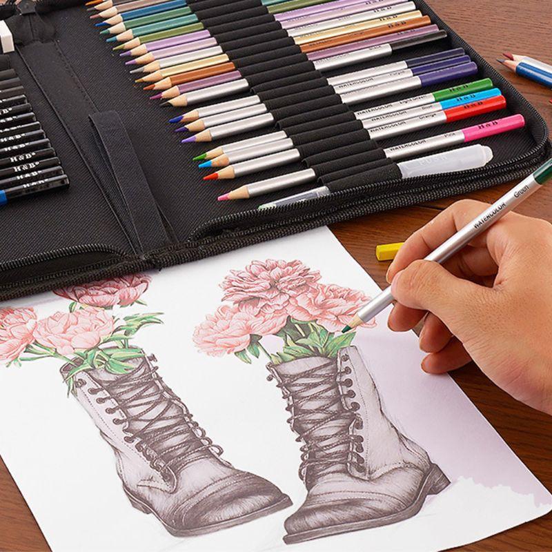 51pcs Professional Drawing Artist Kit Set Pencils and Sketch Charcoal Art /& Bag