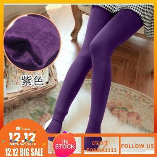 [Bayar Di Tempat]Celana Skinny Legging Tinggi Hangat Elastis Tebal Musim Dingin Untuk Wanita
