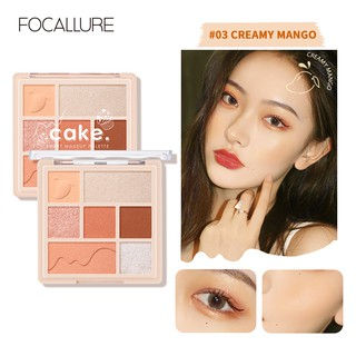 Focallure 3 In 1 Palet Eyeshadow Highlighter Blush On Tekstur Lembut thumbnail