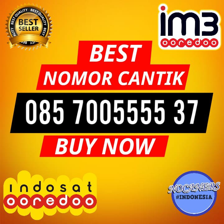 TERMURAH KARTU PERDANA NOMOR CANTIK 085 60000 1371 NOMOR HP CANTIK Indosat IM3 4G | Shopee