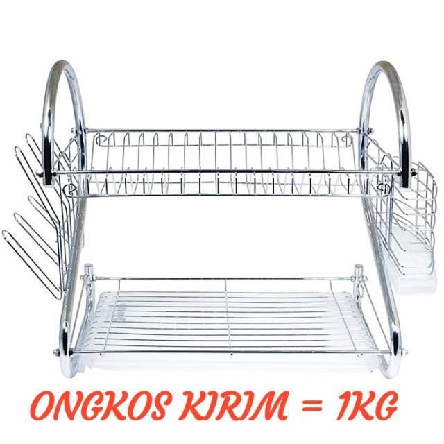 [ 1 KG ] Rak Piring 2 Susun / 2 Layer Dish Drainer | Shopee Indonesia