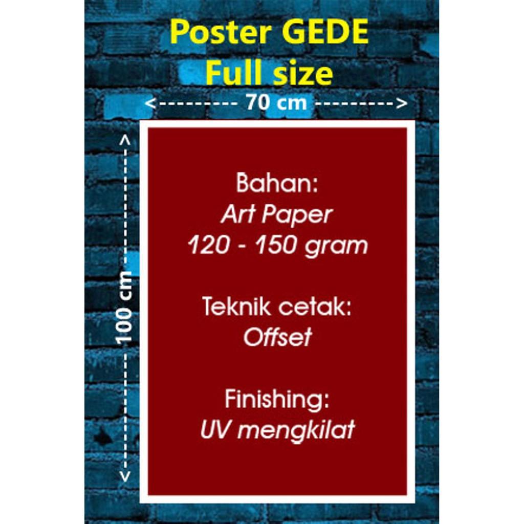 TERMURAH Poster MADINAH 47b Size Gede 70 X 100 Cm