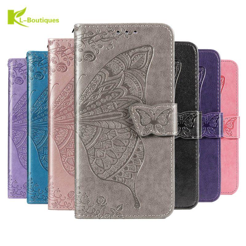 Flip Case Dompet Kulit Motif Kupu-Kupu 3d Untuk Samsung Galaxy A02S A02 S A025F Sm-A025F Sm-A025F / Ds