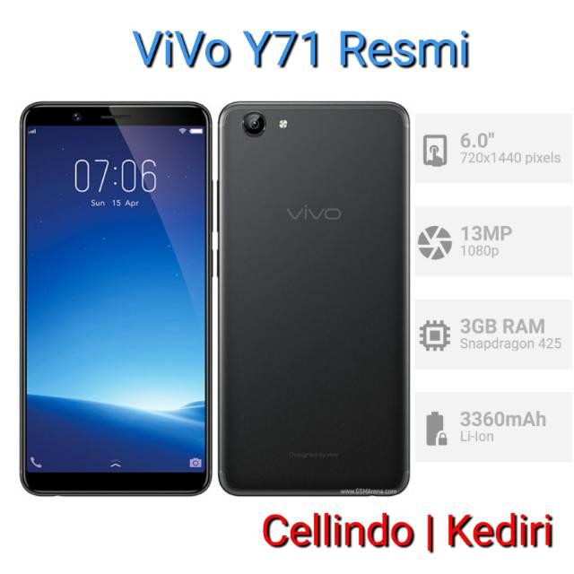 Vivo Y71 Ram 2gb Rom 16gb Garansi Resmi Vivo Indonesia 1 Tahun