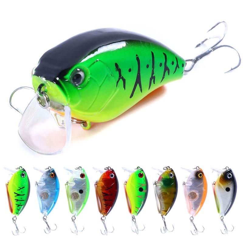 1PCS Fish Fishing Lures Crankbaits Hooks Minnow Bass Baits Tackle