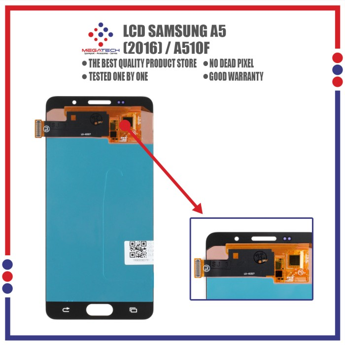 ⭐⭐⭐⭐⭐TRENDING ! layar LCD+TOUCHSCREEN SAMSUNG A 5 (2016) / A 510 F OLED - Hitam
