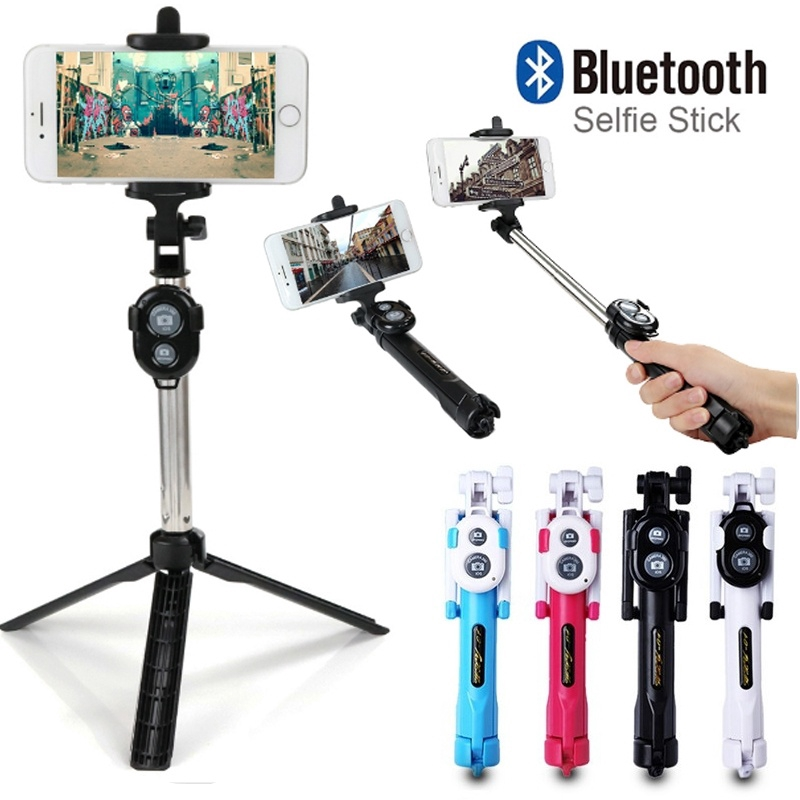 💎Stainless Steel Bluetooth Cell Phone Selfie Stick Monopod Tripod For Iphone   Shopee Indonesia