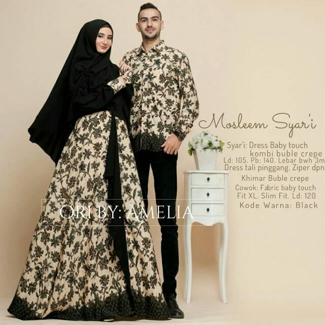 New Gamis Couple Suami Istri Karima Syari Free Cadar Ori By Boyazy