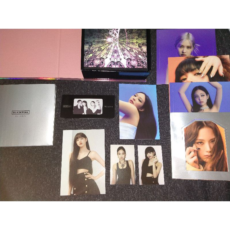 [Original] The Album Blackpink, photocard lisa jennie, postcard lisa jennie, mounted pc, sticker