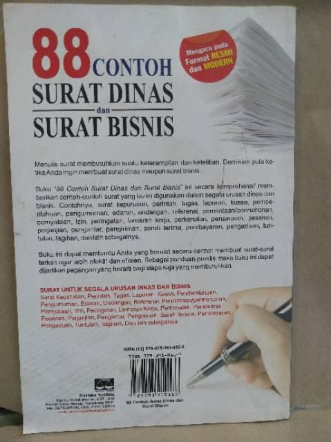 88 Contoh Surat Dinas Dan Surat Bisnis By Gamal Komandoko Penerbit Pustaka Yustisa