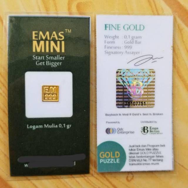 Emas Mini 0 1 Gram Shopee Indonesia