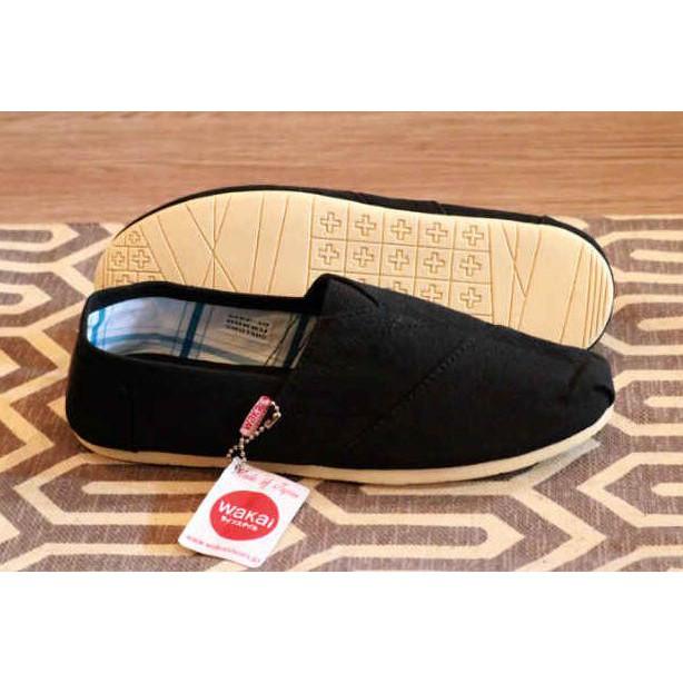 Sepatu Pria Wakai Slip On Black Casual Santai Way Street Man Shoes ... 5583fbcdd8