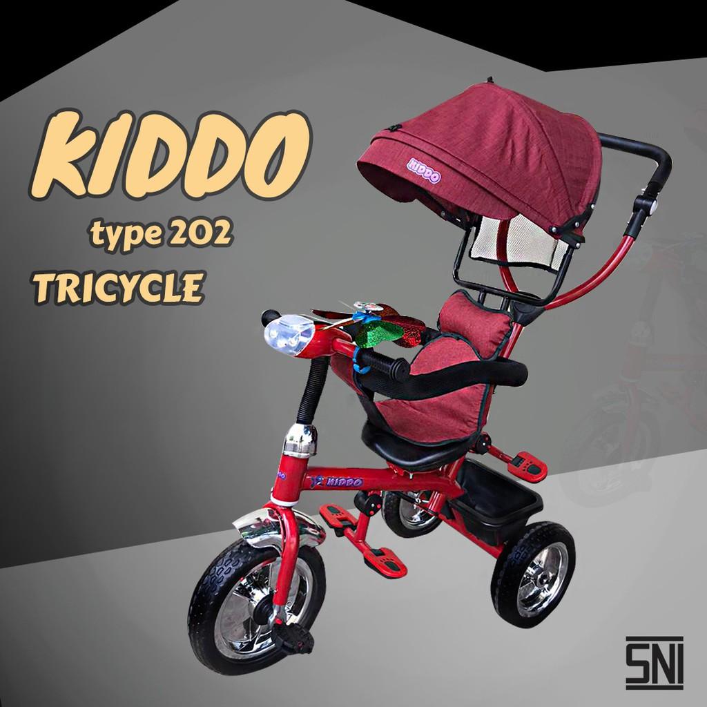 Sepeda Roda tiga Stroller Kiddo 202 IC MUSIK HADAP DEPAN