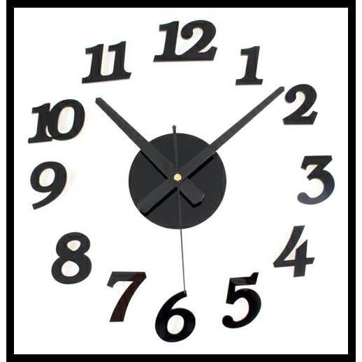 Unik JAM DINDING JUMBO DIAMETER 80 130CM DIY BESAR ACRYLIC WALL CLOCK BLACK  Hitam Murah  2546020622