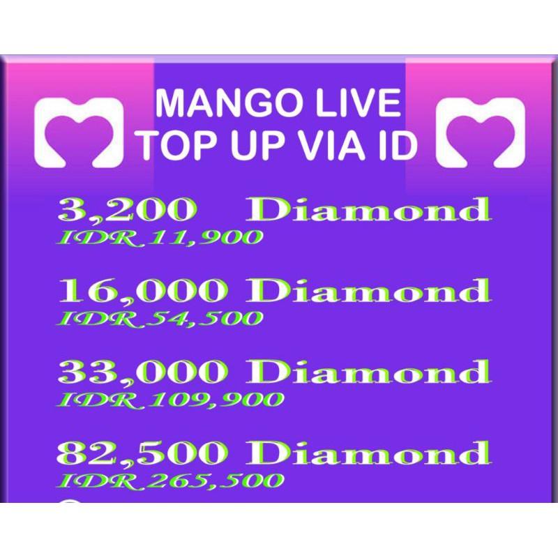 Top Up Mango Live   Ungu DM   Mango Live