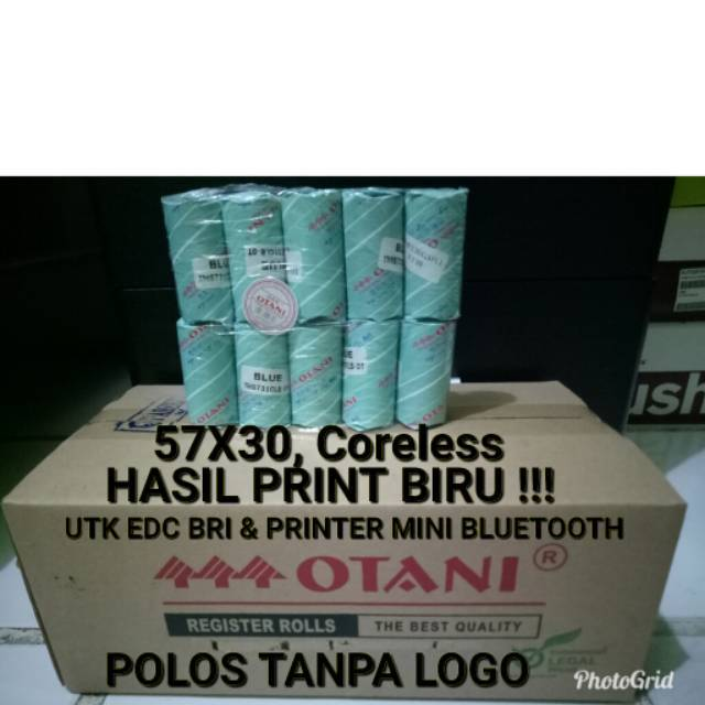 Kertas Thermal Paper 57x30 mm Struk Kasir POS 58mm 10 Buah | Shopee Indonesia