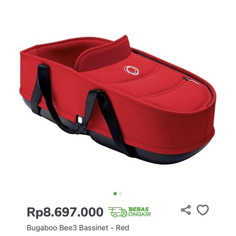 preloved bugaboo bassinet + adaptor