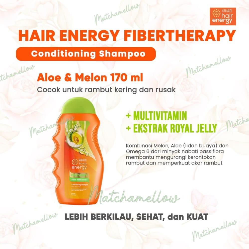 ❄️MATCHA❄️MAKARIZO HAIR ENERGY FIBERTHERAPY CONDI SHAMPOO 170 320 ML SAMPO PEMBERSIH RAMBUT 2IN1-5