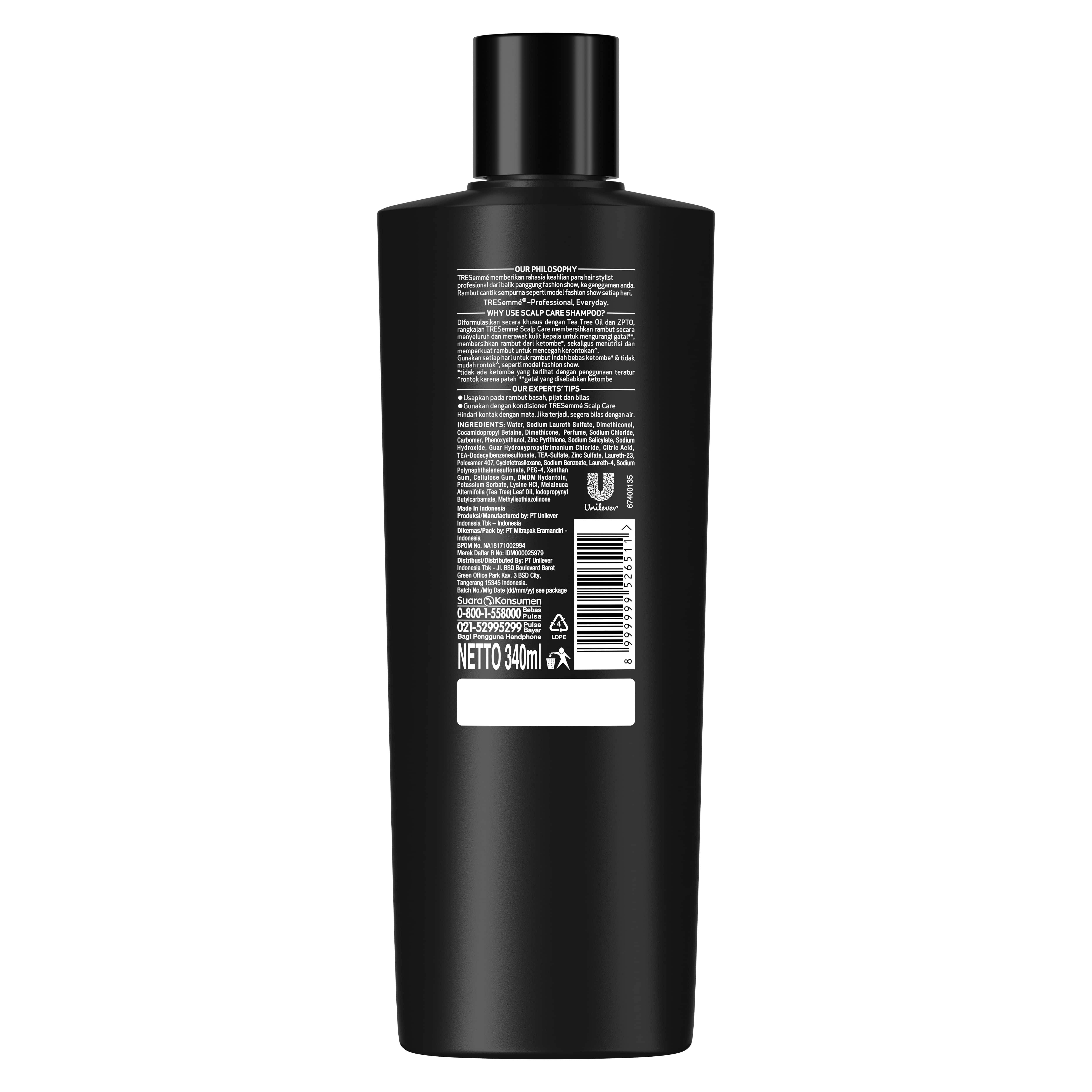 Tresemme Shampoo Scalp Care 340 Ml - Scalp Treatment, Scalp Shampoo, Perawatan Kulit Kepala-2