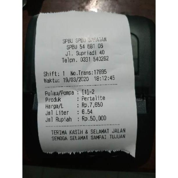Aplikasi Cetak Struk Spbu Hp Android Apk Buy 1 Free 1 Kode 6557 Shopee Indonesia