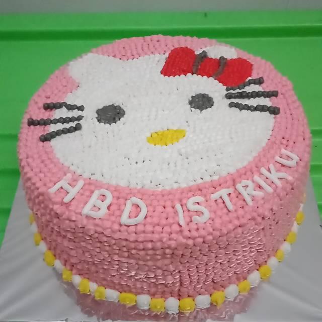 Kue Ulang Tahun Blackforest 20cm Hello Kitty Shopee Indonesia