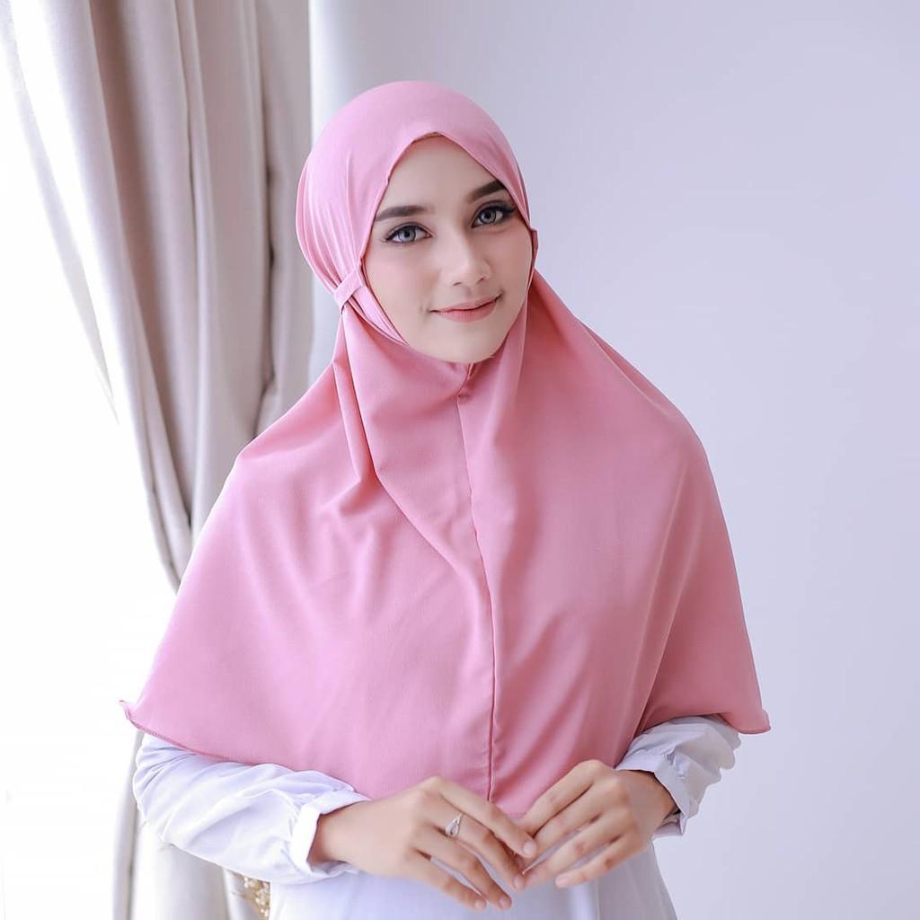 Bergo Maryam Diamond 75 X 90 Cm Hijab Maryam Jilbab Bergo Maryam Tali Diamond Jumbo Shopee Indonesia