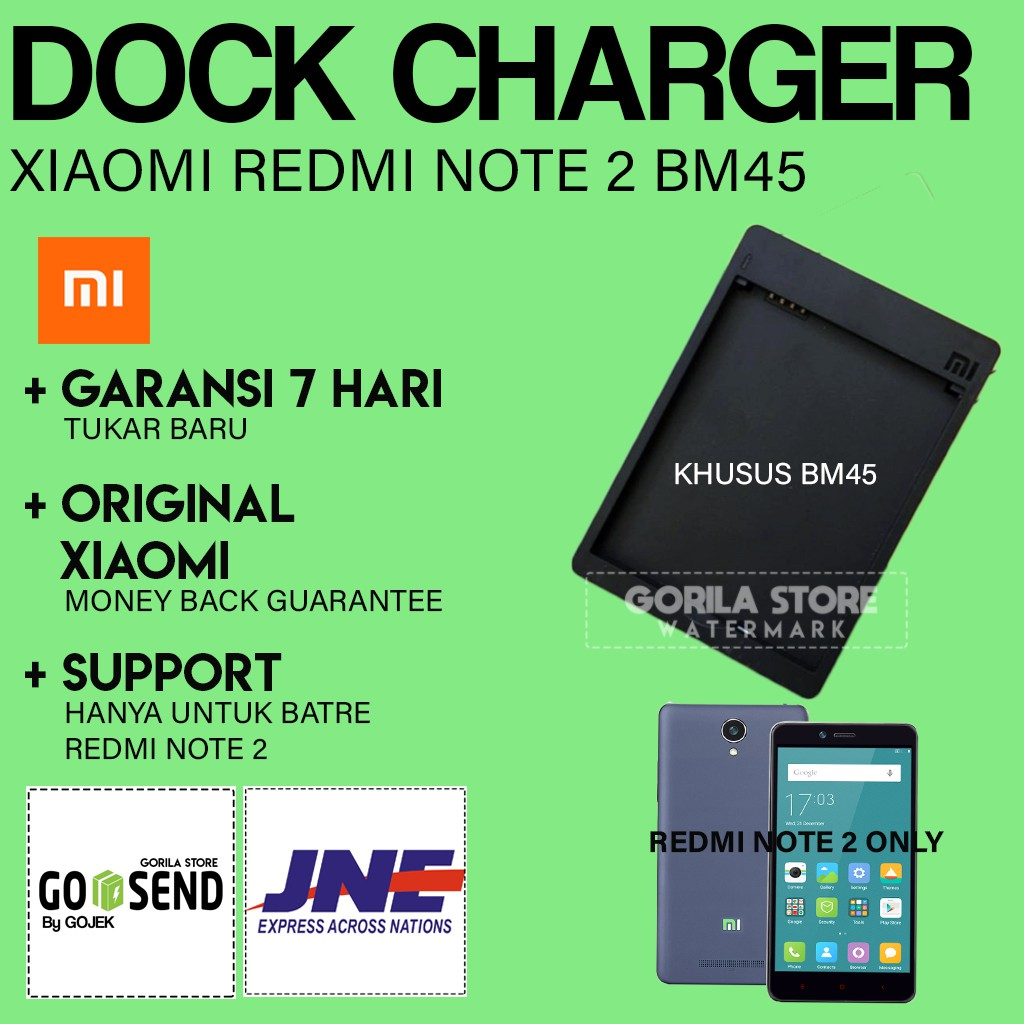 [ORI] Charger Batre Xiaomi Redmi Note 2 / Dock Charger | Shopee Indonesia