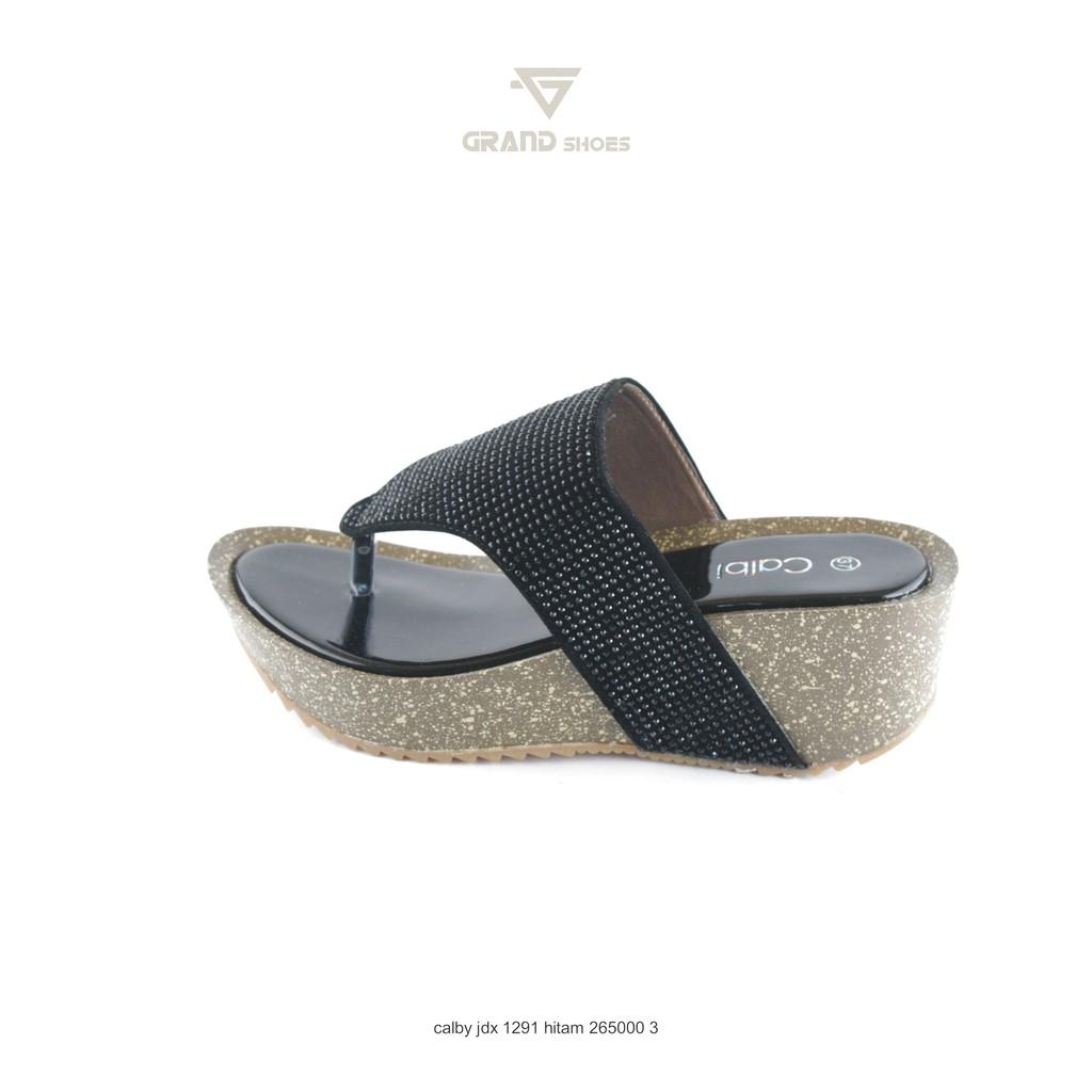 sandal wedges calbi wanita nux 1291 merah hitam original  240fd79bf0