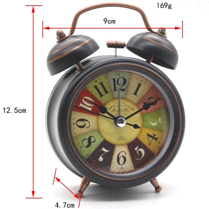 Vintage Design Hitam Source Ruibao Alarm Clock Kt. Source · JBA009 -