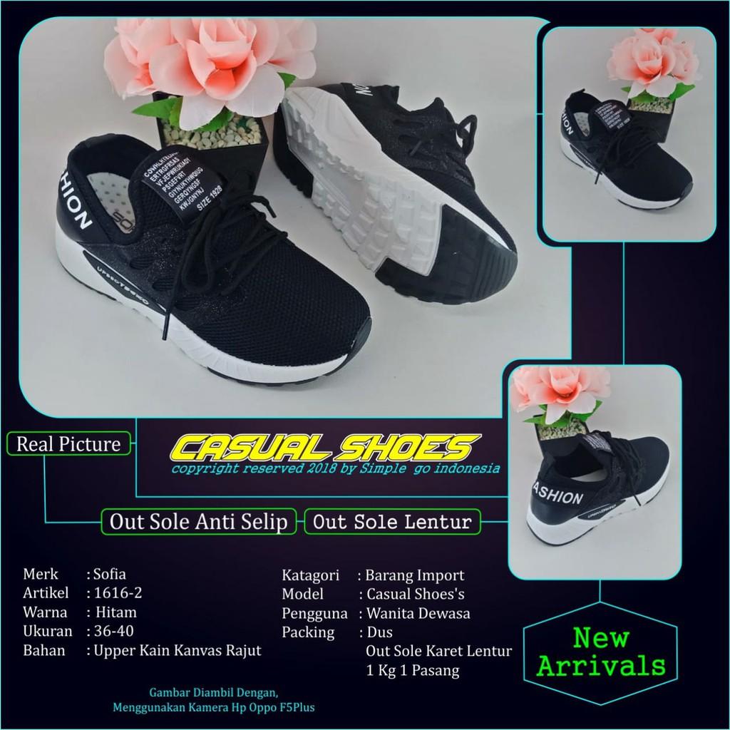 Ardiles Sepatu Running Wanita Estelle Abu Merah Fuchia 37 40 Women Shoes Hitam 38 Shopee Indonesia