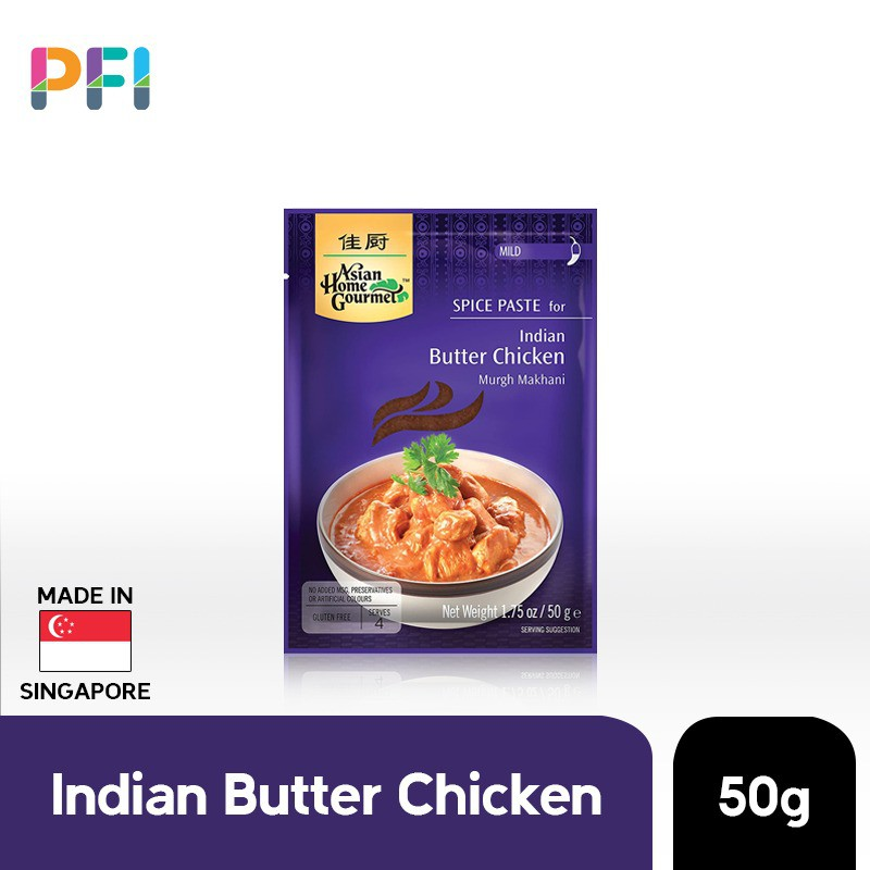 Asian Home Gourmet Ahg Indian Butter Chicken 50g Shopee Indonesia