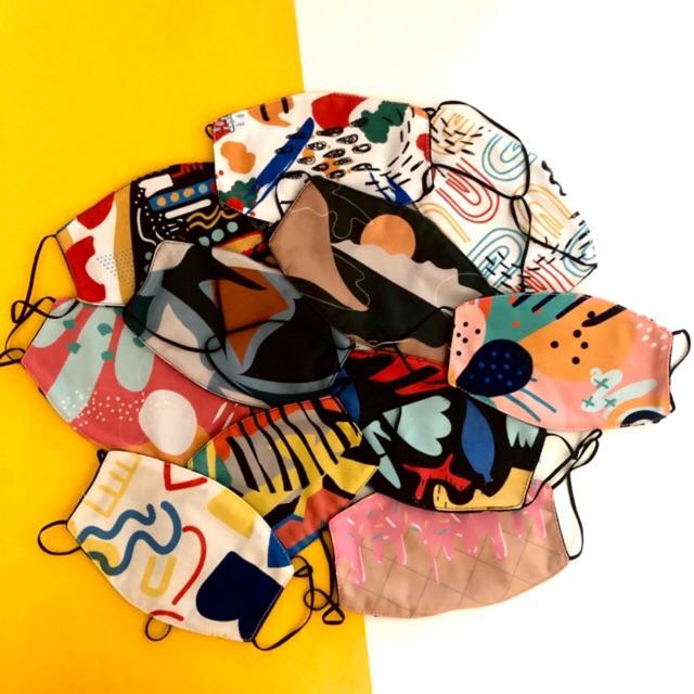 Masker kain printed LUCU dan LEMBUT   Shopee Indonesia