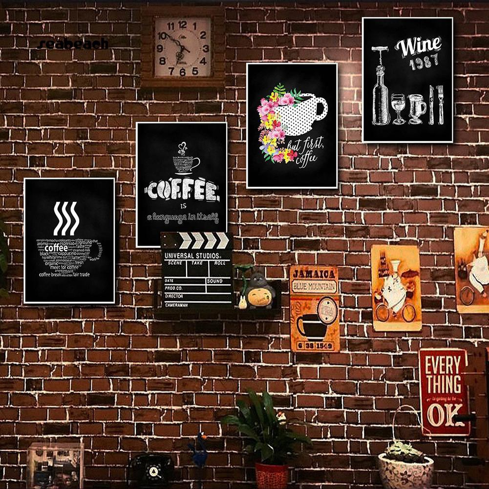 Seabeach Nordic Simple Blackboard Drawing Printed Painting Cafe Coffee Shop Wall Decor