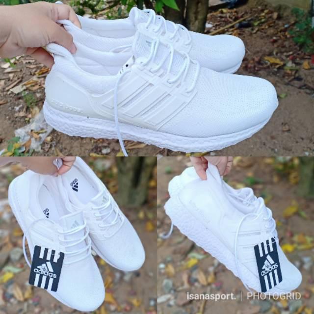 Sepatu Adidas Putih Sepatu Olahraga Full Putih Sepatu Seragaman