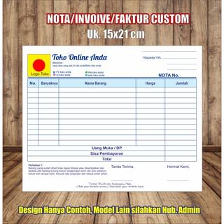 Nota Furniture Paket 12 Folio 4 Rangkap Plus Nomerator